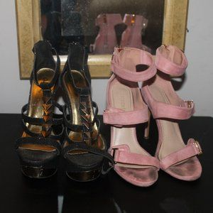 SEXY GENTLY USED HEELS BUNDLE SIZES 6.5 & 7